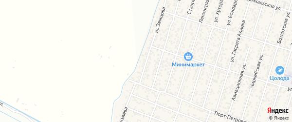 Улица Земцова на карте поселка Семендера с номерами домов