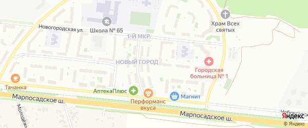 Улица Музыканта В.А.Галкина на карте Чебоксар с номерами домов