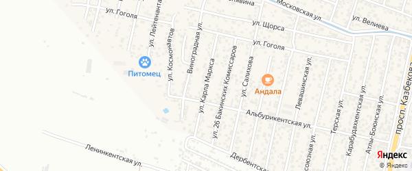 Улица Карла Маркса на карте поселка Семендера с номерами домов