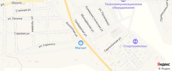 Грейдерная улица на карте села Тамбовки Астраханской области с номерами домов