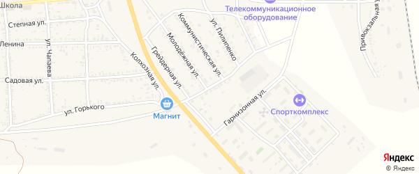 Восточный переулок на карте села Тамбовки Астраханской области с номерами домов