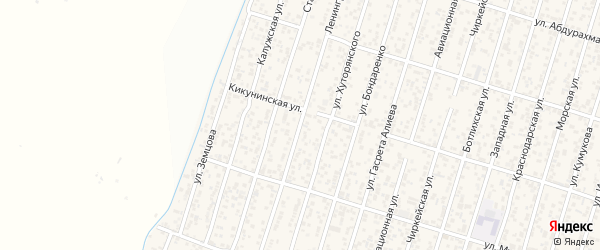 Ленинградская улица на карте поселка Семендера с номерами домов