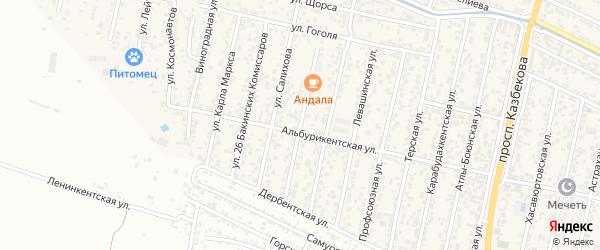 Улица Сумена Курбанова на карте поселка Семендера с номерами домов