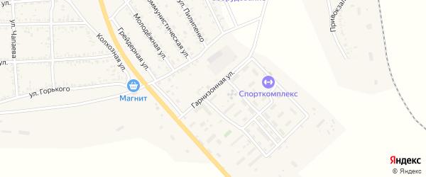 Гарнизонная улица на карте села Тамбовки Астраханской области с номерами домов
