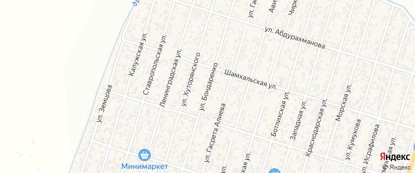 Улица Бондаренко на карте поселка Семендера с номерами домов