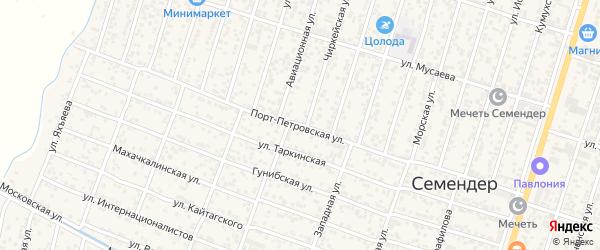 Порт-Петровская улица на карте поселка Семендера с номерами домов