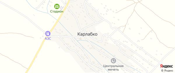 Улица Мира на карте села Карлабко Дагестана с номерами домов
