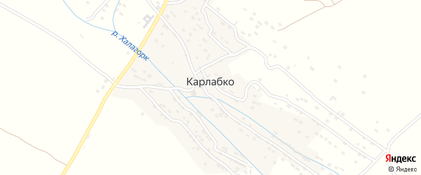 Полевая улица на карте села Карлабко Дагестана с номерами домов