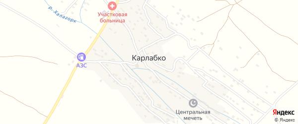 Новая улица на карте села Карлабко Дагестана с номерами домов