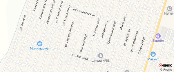 Кикунинская улица на карте поселка Семендера с номерами домов
