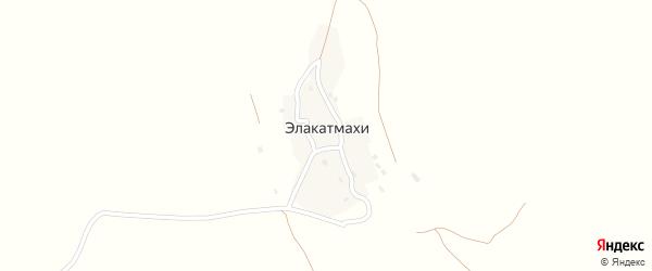Улица Амирова.С.Д на карте села Элакатмахи Дагестана с номерами домов