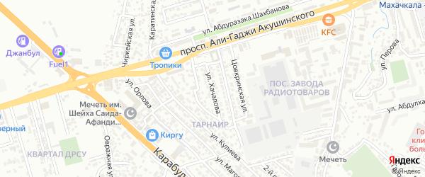 Улица Хачалова на карте микрорайона Ватана с номерами домов