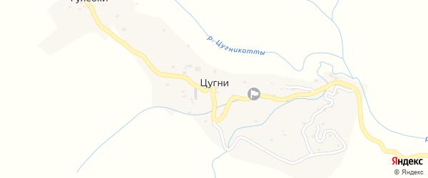 Квартал Муг на карте села Цугни Дагестана с номерами домов