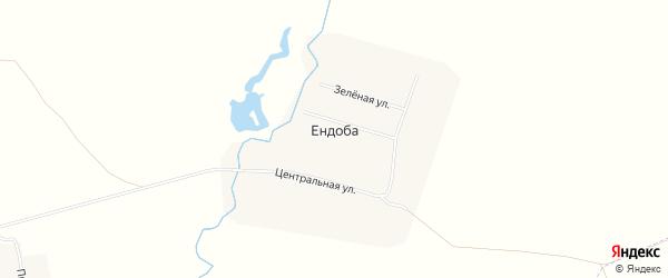 Карта деревни Ендобы в Чувашии с улицами и номерами домов