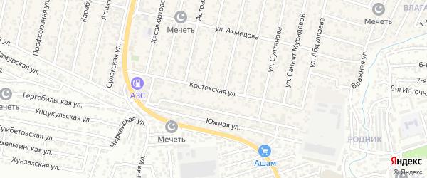 Костекская улица на карте поселка Семендера с номерами домов