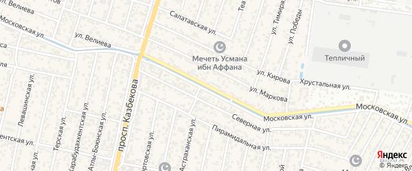 Московская улица на карте поселка Семендера с номерами домов
