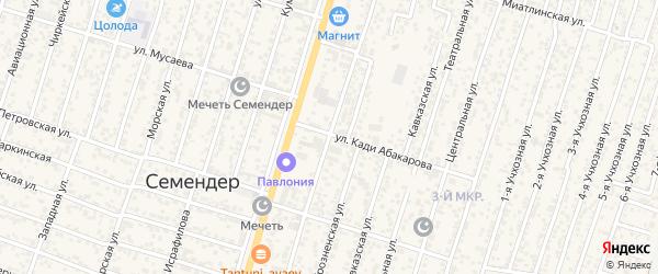 Улица Абдулмеджидова на карте поселка Семендера с номерами домов
