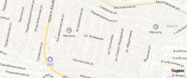 Улица Тотурбиева на карте поселка Семендера с номерами домов