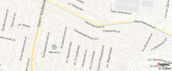 Пирамидальная улица на карте поселка Семендера с номерами домов