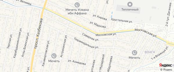 Северная улица на карте поселка Семендера с номерами домов