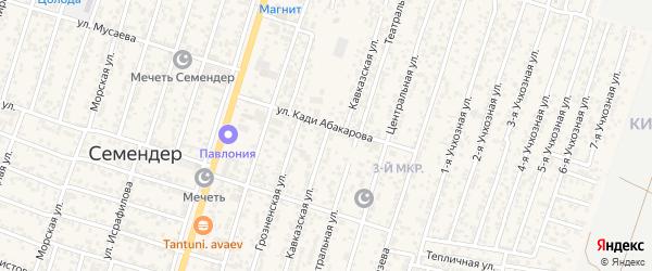 Кавказская улица на карте поселка Семендера с номерами домов