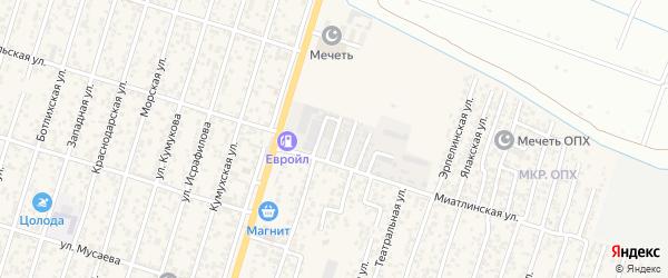 2-й Миатлинский тупик на карте поселка Семендера с номерами домов