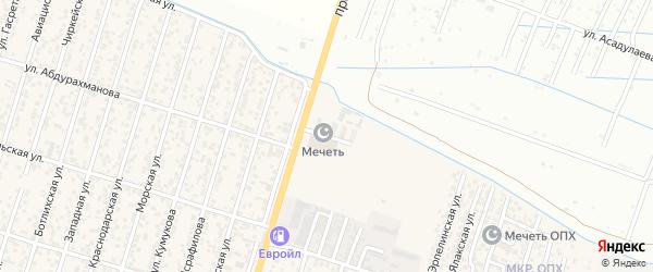 Уллуаинская улица на карте Махачкалы с номерами домов