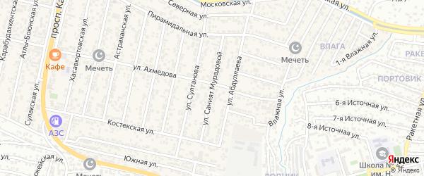 Улица Саният Мурадовой на карте поселка Семендера с номерами домов