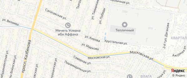 Улица Кирова на карте поселка Семендера с номерами домов
