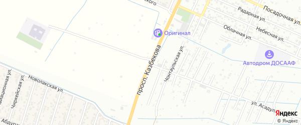 Проспект Казбекова на карте поселка Семендера с номерами домов