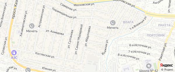 Улица Абдурахмана Абдуллаева на карте поселка Семендера с номерами домов