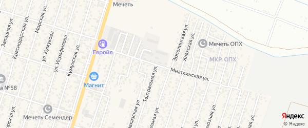 Миатлинская улица на карте Махачкалы с номерами домов