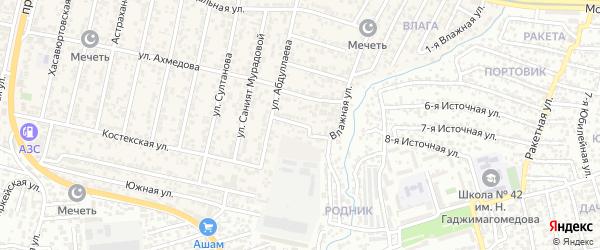 Комсомольская улица на карте поселка Семендера с номерами домов