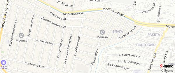 Матросская улица на карте поселка Семендера с номерами домов
