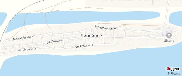 Заречная улица на карте Линейного села Астраханской области с номерами домов