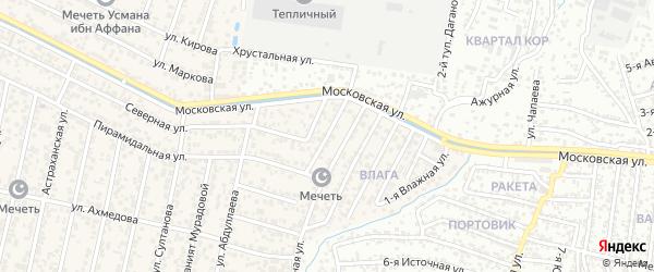 Улица Абдурахмана Исмаилова на карте поселка Семендера с номерами домов