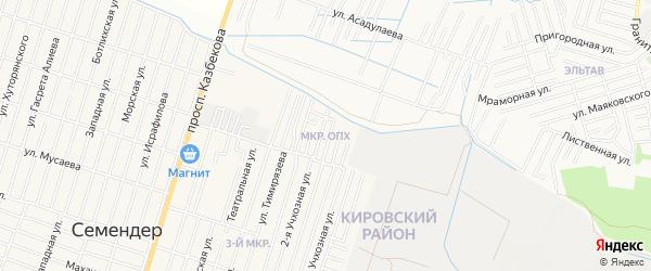 Микрорайон ОПХ на карте поселка Семендера с номерами домов