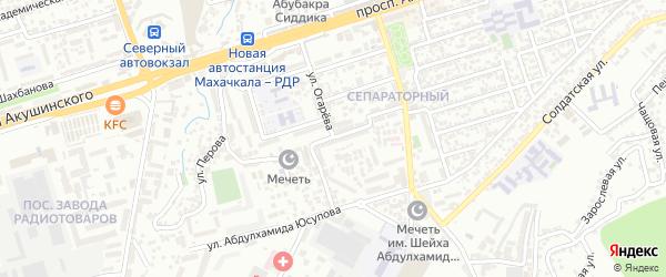 Улица Перова на карте Махачкалы с номерами домов
