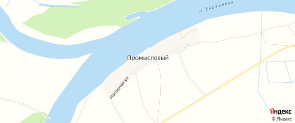 Карта Промыслового поселка в Астраханской области с улицами и номерами домов
