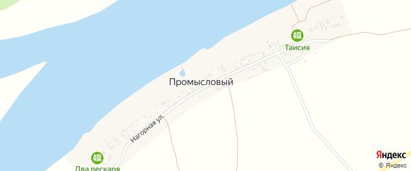 Нагорная улица на карте Промыслового поселка Астраханской области с номерами домов