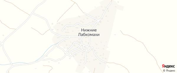 Первая улица на карте села Нижнего Лабкомахи Дагестана с номерами домов