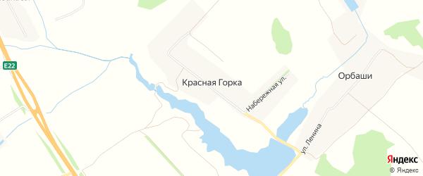 Карта деревни Красной Горки в Чувашии с улицами и номерами домов
