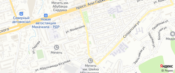 Улица Абдулхамида Юсупова на карте Махачкалы с номерами домов