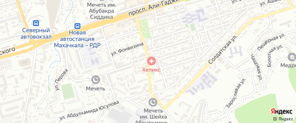Проезд Абдулхамида Юсупова на карте Махачкалы с номерами домов