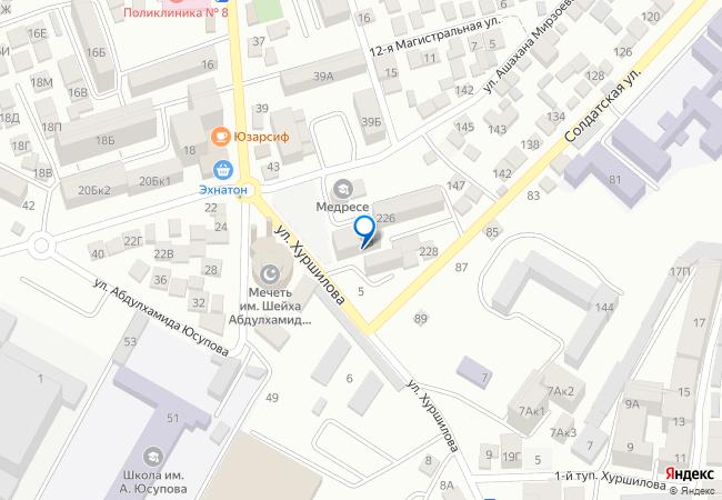 0c43cfb74 улица Хуршилова, 19А на карте-панораме Махачкалы, организации ...