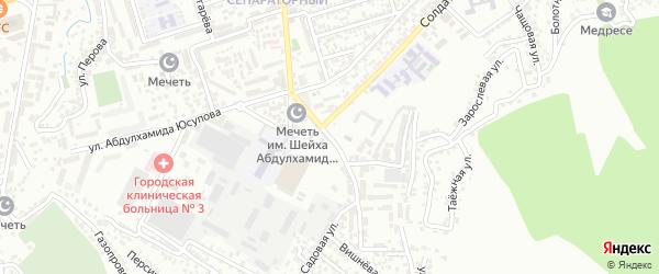Улица Хуршилова на карте Махачкалы с номерами домов