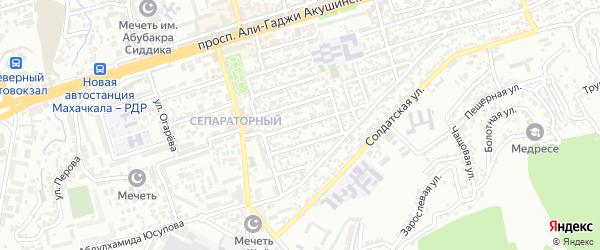Магистральная 10-я улица на карте Махачкалы с номерами домов
