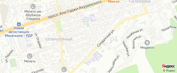 Магистральная 13-я улица на карте Махачкалы с номерами домов
