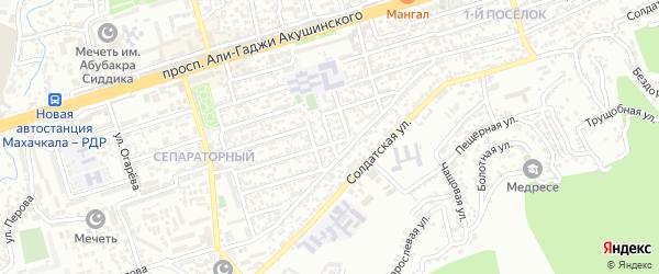 Магистральная 14-я улица на карте Махачкалы с номерами домов