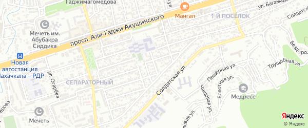 Магистральная 15-я улица на карте Махачкалы с номерами домов